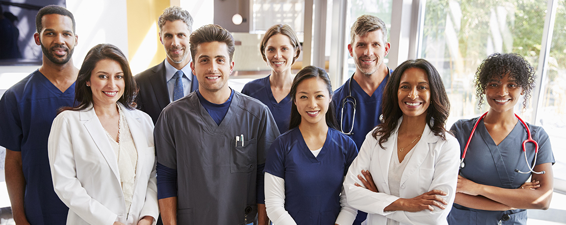 Group of smiling medical professionals